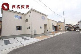 岡山県倉敷市亀島の新築一戸建て分譲住宅の外観 物件詳細ページにリンク