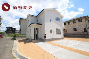 岡山県赤磐市桜が丘西の新築一戸建て分譲住宅の外観 物件詳細ページにリンク
