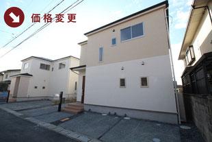 岡山県岡山市中区雄町の新築一戸建て分譲住宅の外観 物件詳細ページにリンク
