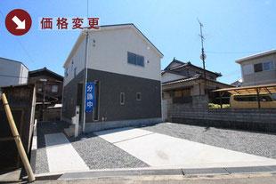 岡山県倉敷市児島赤崎の新築一戸建て分譲住宅の外観 物件詳細ページにリンク