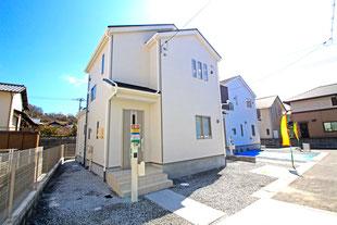 岡山市中区四御神の新築 一戸建て 分譲住宅の外観写真