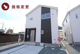 岡山県玉野市築港の新築一戸建て分譲住宅の外観 物件詳細ページにリンク