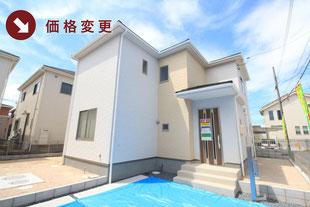 岡山市中区藤崎の新築一戸建て分譲住宅の外観 物件詳細ページにリンク