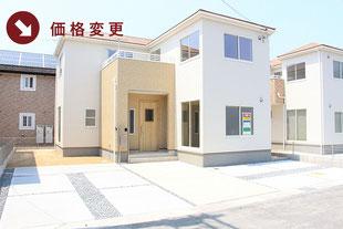 岡山市福泊の新築一戸建て分譲住宅の外観 物件詳細ページにリンク