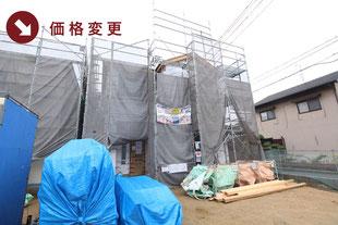 岡山県倉敷市東粒浦の新築一戸建て分譲住宅の外観 物件詳細ページにリンク