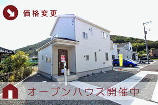 岡山県岡山市南区迫川の新築一戸建て分譲住宅の外観 物件詳細ページにリンク