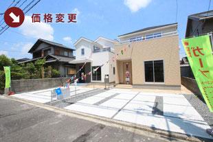 岡山県倉敷市黒崎の新築一戸建て分譲住宅の外観 物件詳細ページにリンク