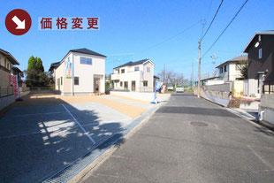 岡山県赤磐市桜が丘の新築一戸建て分譲住宅の外観 物件詳細ページにリンク
