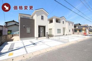 岡山県岡山市南区西高崎の新築一戸建て分譲住宅の外観 物件詳細ページにリンク