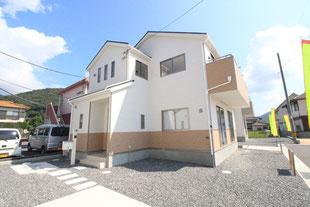 岡山県岡山市北区原の新築一戸建て分譲住宅の外観 物件詳細ページにリンク