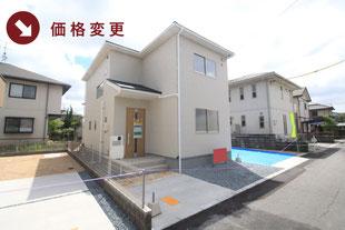 岡山市北区一宮の新築一戸建て分譲住宅の外観 物件詳細ページにリンク