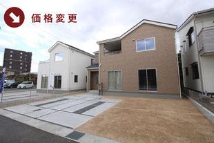 岡山県倉敷市西阿知町の新築一戸建て分譲住宅の外観 物件詳細ページにリンク