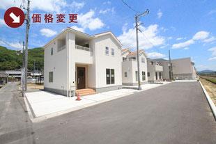 岡山市北区西辛川の新築一戸建て分譲住宅の外観 物件詳細ページにリンク