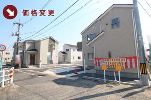岡山県倉敷市水江の新築一戸建て分譲住宅の外観 物件詳細ページにリンク