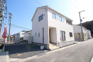 岡山県岡山市南区宗津の新築一戸建て分譲住宅の外観 物件詳細ページにリンク
