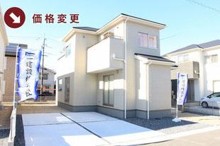 岡山県岡山市中区福泊の新築一戸建て分譲住宅の外観 物件詳細ページにリンク