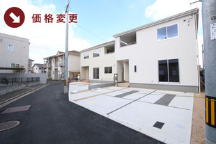 岡山県倉敷市川入の新築一戸建て分譲住宅の外観 物件詳細ページにリンク