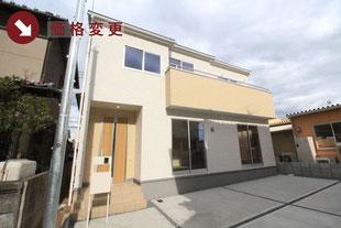 岡山県岡山市南区千鳥町の新築一戸建て分譲住宅の外観 物件詳細ページにリンク