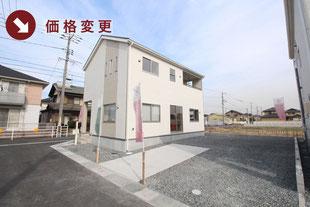 岡山県倉敷市玉島乙島の新築一戸建て分譲住宅の外観 物件詳細ページにリンク