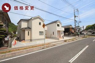 岡山県玉野市奥玉の新築一戸建て分譲住宅の外観 物件詳細ページにリンク
