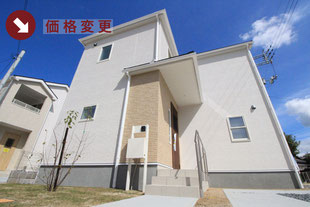 岡山県都窪郡早島町早島の新築一戸建て分譲住宅の外観 物件詳細ページにリンク
