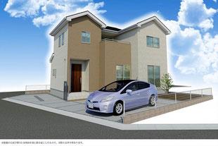 岡山県岡山市中区今在家の新築一戸建て分譲住宅の外観 物件詳細ページにリンク