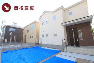 岡山県倉敷市児島小川の新築一戸建て分譲住宅の外観 物件詳細ページにリンク