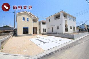 岡山県倉敷市玉島上成の新築一戸建て分譲住宅の外観 物件詳細ページにリンク