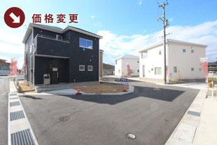 岡山県倉敷市連島町鶴新田の新築一戸建て分譲住宅の外観 物件詳細ページにリンク