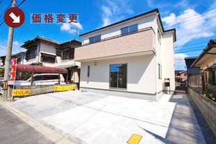 岡山県岡山市中区関の新築一戸建て分譲住宅の外観 物件詳細ページにリンク