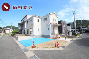 岡山県倉敷市児島唐琴の新築一戸建て分譲住宅の外観 物件詳細ページにリンク