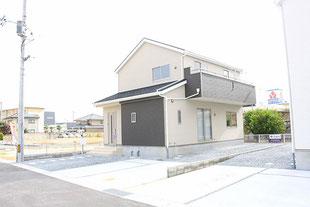 岡山県岡山市中区長岡の新築一戸建て分譲住宅の外観 物件詳細ページにリンク