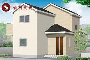岡山県岡山市南区福富西の新築一戸建て分譲住宅の外観 物件詳細ページにリンク