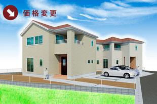 岡山県倉敷市上富井の新築一戸建て分譲住宅の外観 物件詳細ページにリンク