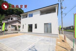 岡山市北区辛川市場の新築一戸建て分譲住宅の外観 物件詳細ページにリンク