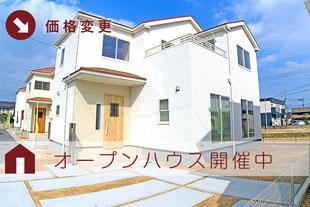 倉敷市船穂町船穂の新築一戸建て分譲住宅の外観 物件詳細ページにリンク