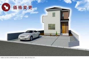 岡山県岡山市北区撫川の新築一戸建て分譲住宅の外観 物件詳細ページにリンク