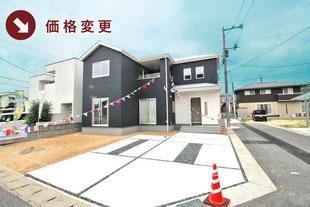 岡山県倉敷市連島中央の新築一戸建て分譲住宅の外観 物件詳細ページにリンク