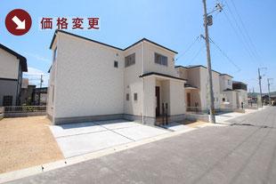 岡山県倉敷市玉島勇崎の新築一戸建て分譲住宅の外観 物件詳細ページにリンク