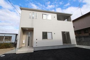 岡山県倉敷市林の新築一戸建て分譲住宅の外観 物件詳細ページにリンク