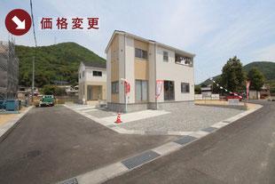 岡山県玉野市槌ヶ原の新築一戸建て分譲住宅の外観 物件詳細ページにリンク