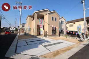 岡山県総社市総社2丁目の新築一戸建て分譲住宅の外観 物件詳細ページにリンク