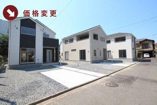 岡山県倉敷市中畝の新築一戸建て分譲住宅の外観 物件詳細ページにリンク