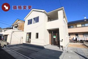岡山市南区若葉町の新築一戸建て分譲住宅の外観 物件詳細ページにリンク