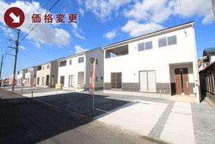 岡山県倉敷市児島下の町の新築一戸建て分譲住宅の外観 物件詳細ページにリンク