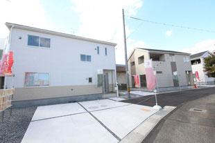 岡山県岡山市東区楢原の新築一戸建て分譲住宅の外観 物件詳細ページにリンク