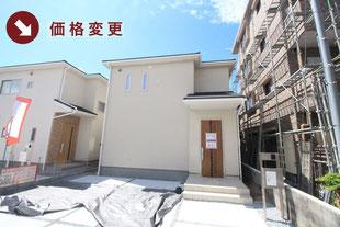 岡山市北区下伊福上町の新築一戸建て分譲住宅の外観 物件詳細ページにリンク