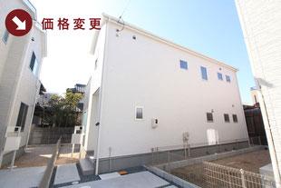 岡山県岡山市北区西長瀬の新築一戸建て分譲住宅の外観 物件詳細ページにリンク