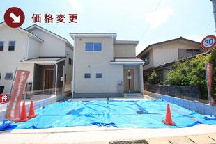 岡山県倉敷市西中新田の新築一戸建て分譲住宅の外観 物件詳細ページにリンク