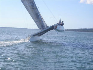 Carbon Copy catamaran shot 3